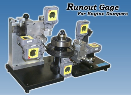 Runout Gage for Engine Dampers
