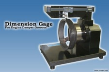 Dimension Gage for Engine Damper Grooves